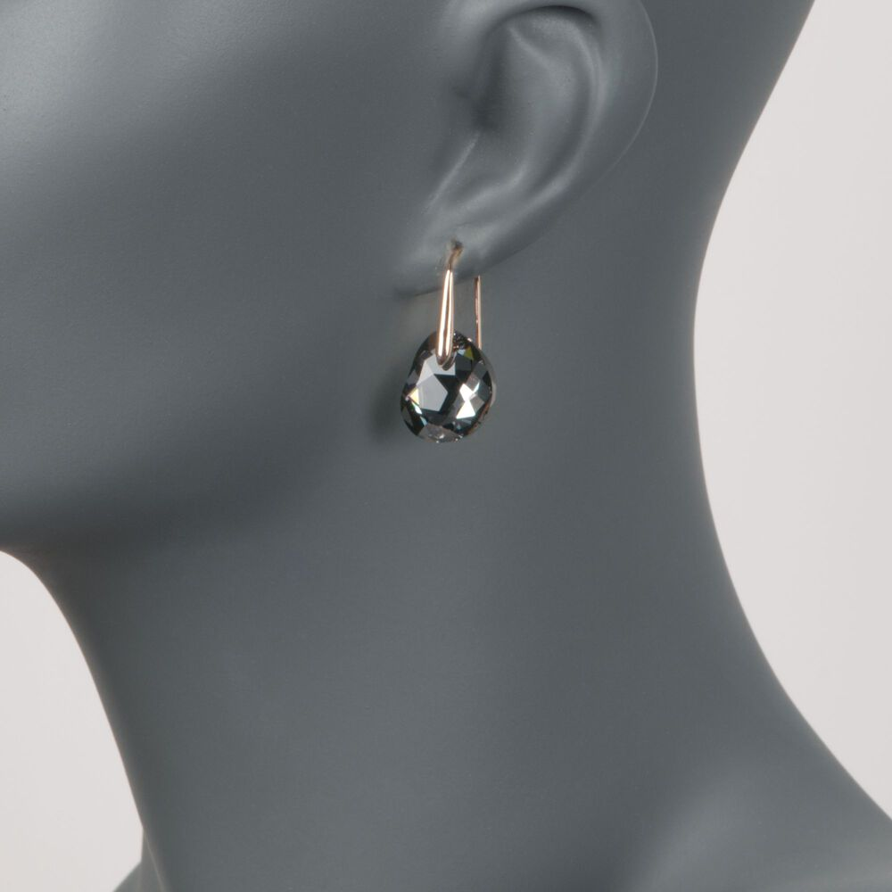 9307cab09aee8 Swarovski Galet Rose Gold Tone Faceted Crystal Earrings - Best All ...