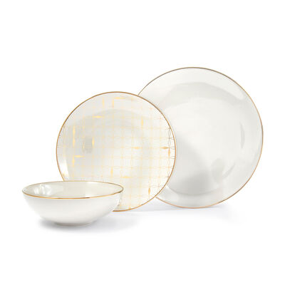 "Lenox ""Trianna Taupe"" 12-pc. Porcelain Dinnerware Set, , default"