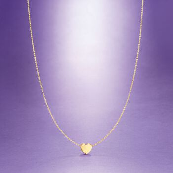 14kt Yellow Gold Heart Pendant Necklace, , default