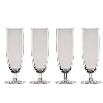 "Lenox ""Valencia"" Set of 4 Smoke Flute Glasses, , default"