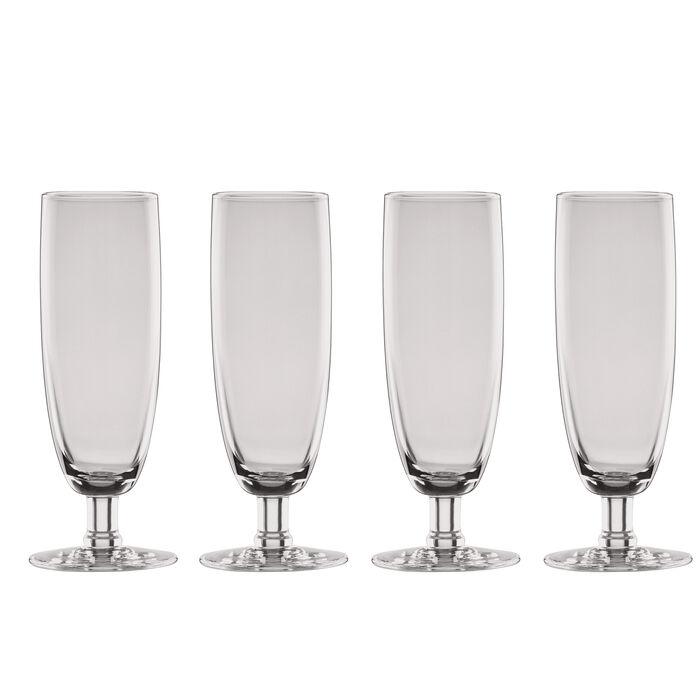 "Lenox ""Valencia"" Set of 4 Smoke Flute Glasses"