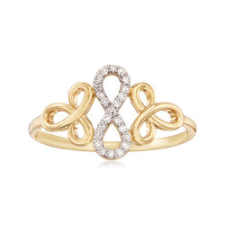 .10 ct. t.w. Diamond Infinity Ring in 14kt Yellow Gold, , default