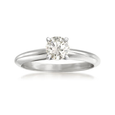 .57 Carat Diamond Solitaire Ring in 14kt White Gold, , default