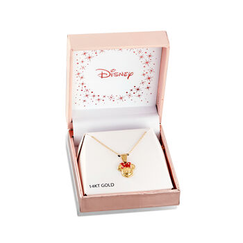 "Child's Disney 14kt Yellow Gold Minnie Mouse Pendant Necklace with Enamel. 15"", , default"