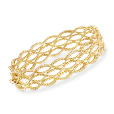 "Roberto Coin ""Barocco"" 18kt Yellow Gold Braided Bangle Bracelet"