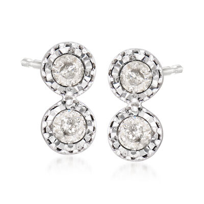 .25 ct. t.w. Diamond Bezel-Set Drop Earrings in Sterling Silver