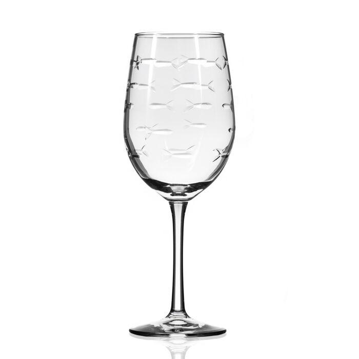 "Rolf Glass ""School of Fish"" Set of 4 Wine Glasses"