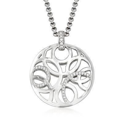 Belle Etoile Celestia .53 ct. t.w. CZ Pendant in Sterling Silver