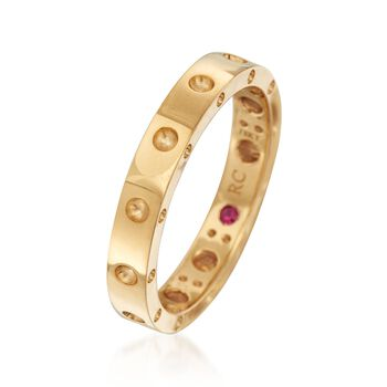 """Roberto Coin """"Symphony"""" Pois Moi 18kt Yellow Gold Ring. Size 7, , default"""