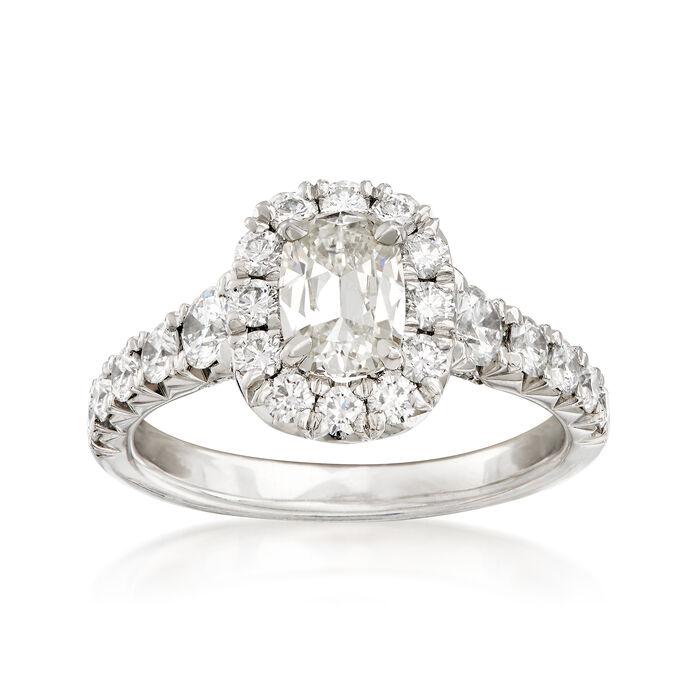 Henri Daussi 1.75 ct. t.w. Diamond Halo Engagement Ring in Platinum, , default
