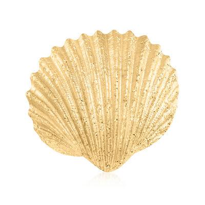 Italian 18kt Gold Over Sterling Sparkle Seashell Ring