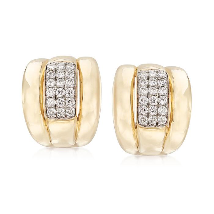 .90 ct. t.w. Diamond Center Earrings in 14kt Yellow Gold, , default