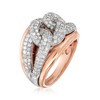 1.30 ct. t.w. Diamond Cuban-Link Ring in 14kt Two-Tone Gold