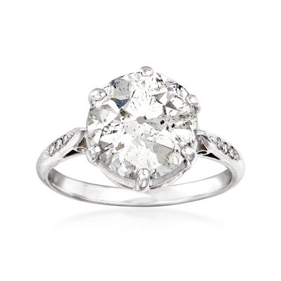 C. 1935 Vintage 4.54 ct. t.w. Diamond Ring in Platinum