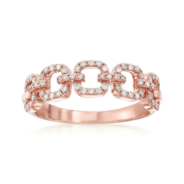 .33 ct. t.w. Diamond Link Ring in 14kt Rose Gold, , default