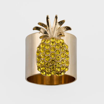 Joanna Buchanan Set of 2 Pineapple Napkin Rings, , default