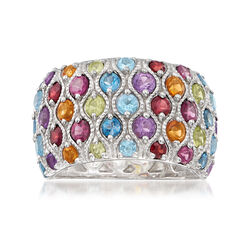 3.00 ct. t.w. Multi-Gemstone Ring in Sterling Silver, , default