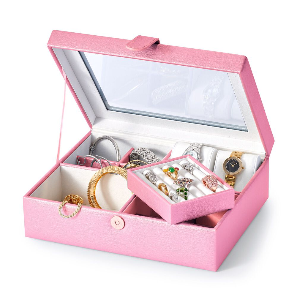 Pink Faux Leather Perfect Luxury Jewelry Box | Ross Simons