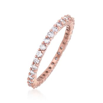 1.00 ct. t.w. Diamond Eternity Band in 14kt Rose Gold, , default