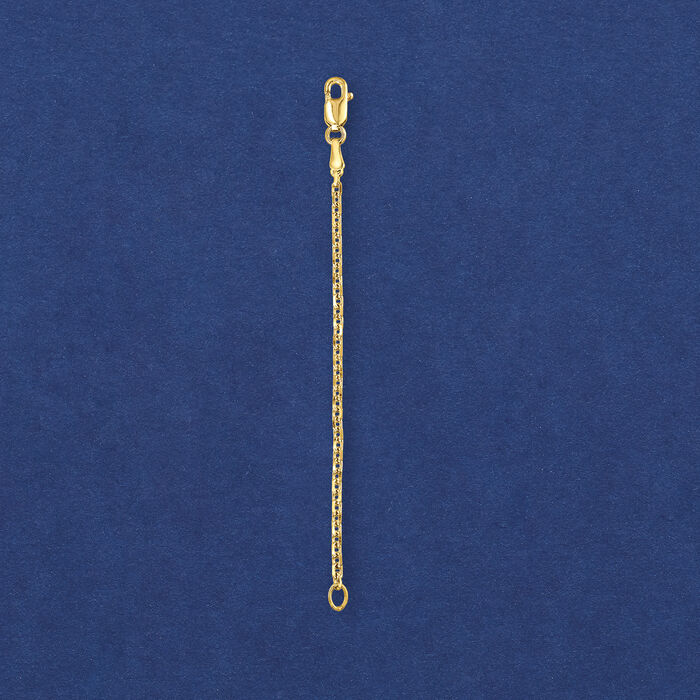 1.8mm 14kt Yellow Gold Cable Chain Necklace Extender