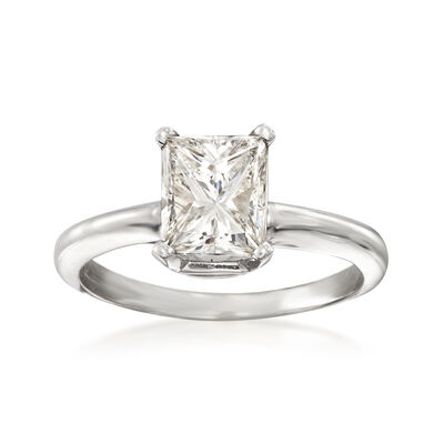 1.51 Carat Diamond Solitaire Ring in 14kt White Gold, , default