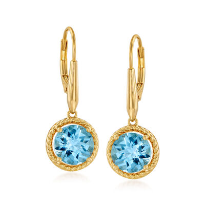 5.00 ct. t.w. Sky Blue Topaz Drop Earrings in 18kt Gold Over Sterling