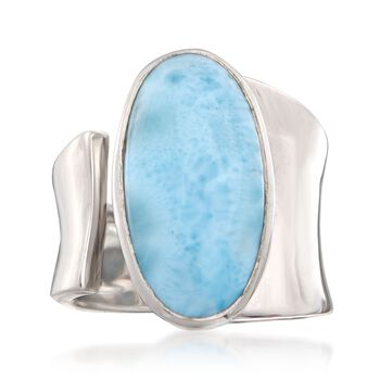 Larimar Wrap Ring in Sterling Silver, , default