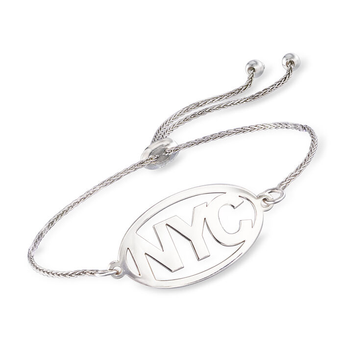 Sterling Silver Personalized Destination Bolo Bracelet