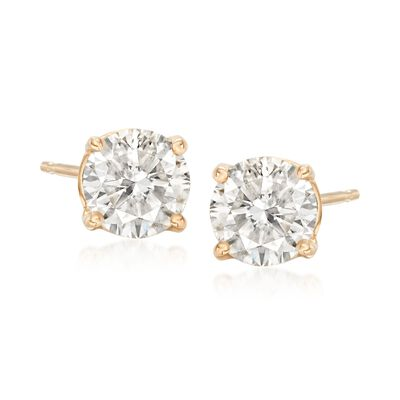 1.50 ct. t.w. Diamond Stud Earrings in 14kt Yellow Gold, , default