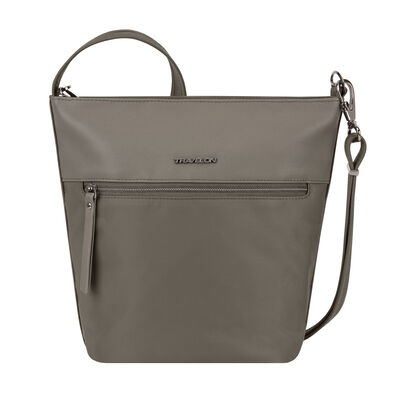 "Anti-Theft ""Addison"" Bucket-Style Brown Tote Bag"