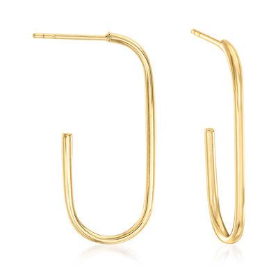 14kt Yellow Gold J-Hoop Earrings