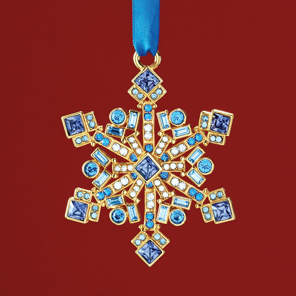 dfad133bbc Ross-Simons 2018 Annual Multicolored Crystal Christmas Jewels Snowflake  Ornament in Gold Plate- 9th