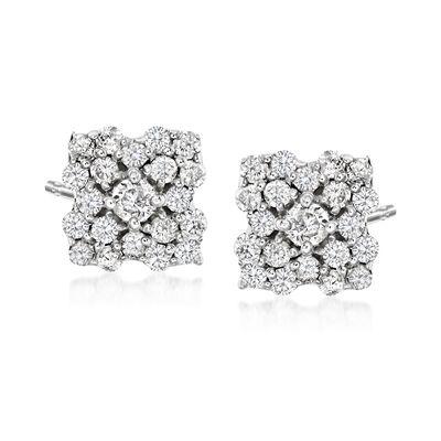 .40 ct. t.w. Diamond Flower Stud Earrings in Sterling Silver