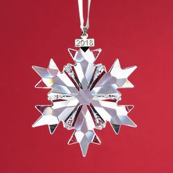 Swarovski Crystal 2018 Annual Star Ornament , , default