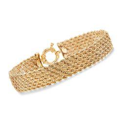 Italian 14kt Yellow Gold Multi-Rope Bracelet, , default