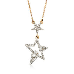 .10 ct. t.w. Diamond Star Necklace in 14kt Yellow Gold, , default