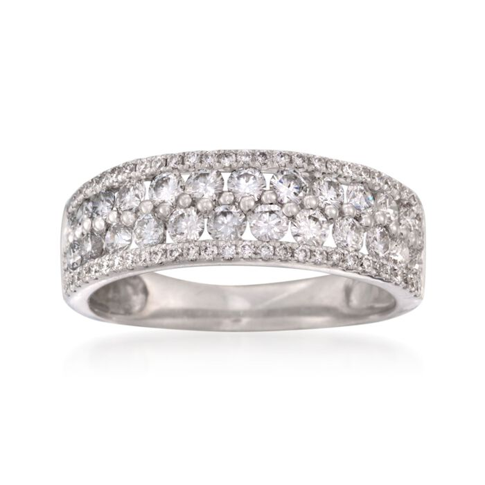 1.31 ct. t.w. Diamond Wedding Ring in 18kt White Gold