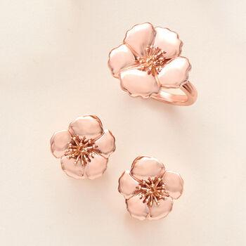 14kt Rose Gold Flower Ring, , default
