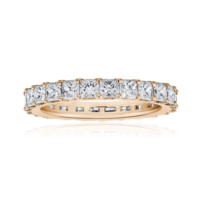 4.90 ct. t.w. Princess-Cut Diamond Eternity Band in 14kt Rose Gold, , default