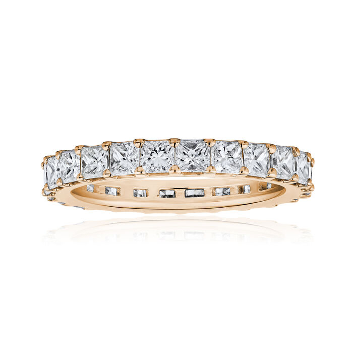 4.90 ct. t.w. Princess-Cut Diamond Eternity Band in 14kt Rose Gold