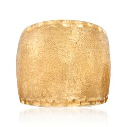 Italian 24kt Yellow Gold Over Sterling Silver Textured Ring, , default