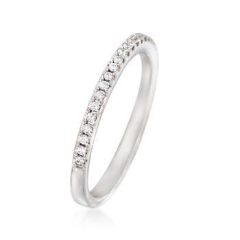 Simon G. .17 ct. t.w. Diamond Wedding Ring in 18kt White Gold, , default