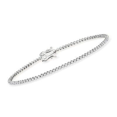 1.00 ct. t.w. Diamond Tennis Bracelet in 14kt White Gold