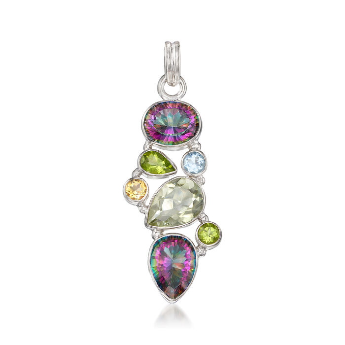 20.60 ct. t.w. Multi-Stone Pendant in Sterling Silver, , default