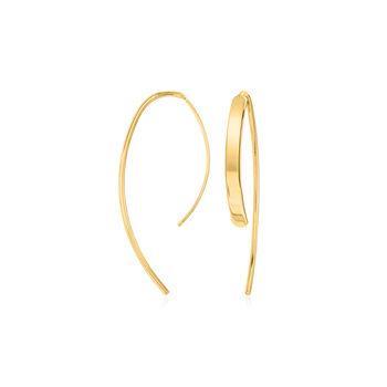 "14kt Yellow Gold Threader Earrings. 5/8"", , default"