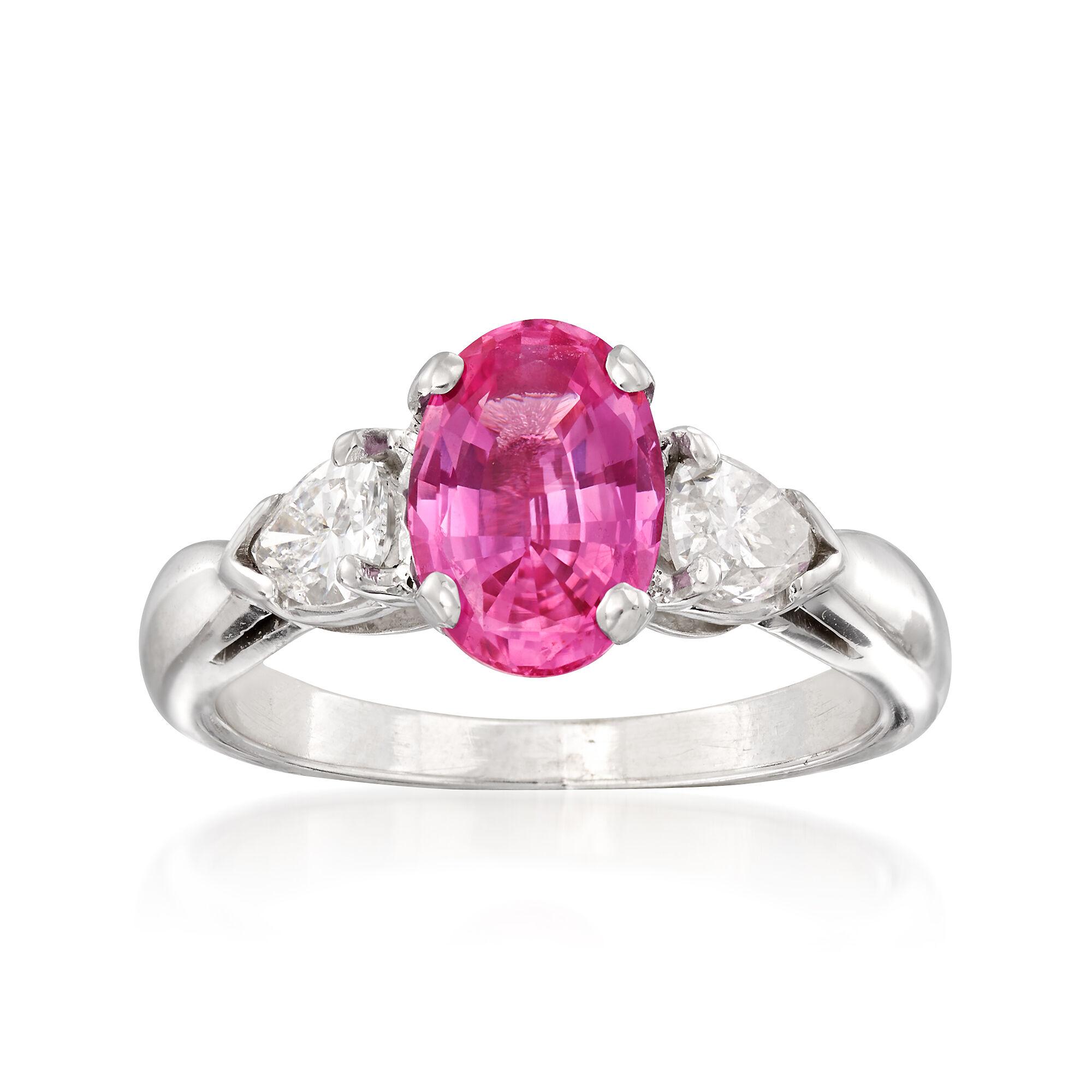 6.00ct 18k Gold Pink Sapphire Halo Vintage Bracelet