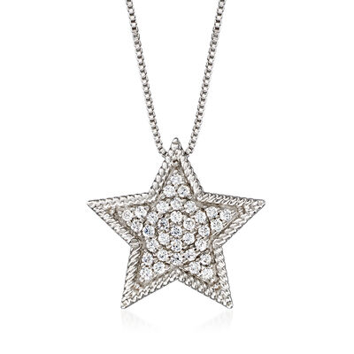 .33 ct. t.w. Diamond Star Necklace in Sterling Silver, , default