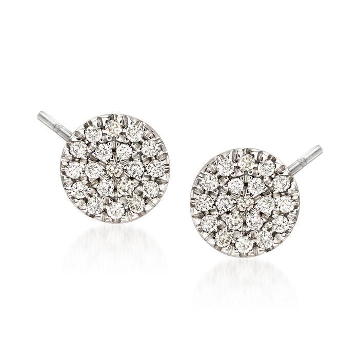 Gabriel Designs .11 ct. t.w. Diamond Round Stud Earrings in 14kt White Gold, , default