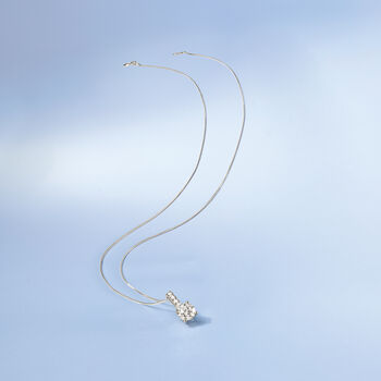 """1.05 ct. t.w. Diamond Pendant Necklace in 14kt White Gold. 18"""", , default"""