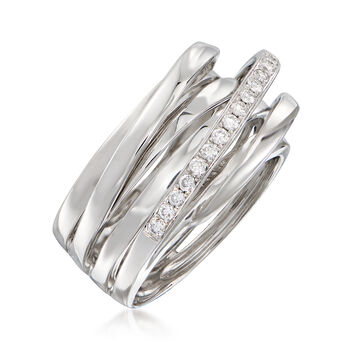 .31 ct. t.w. Diamond Highway Ring in 14kt White Gold. Size 7.5